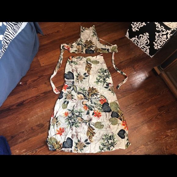 Dresses & Skirts - 2 piece tropical dress set